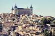 Toledo, Spain. Retro filtered colors.