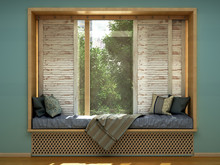 Cozy Home Concept A Mattress By The Window 3d Render Image