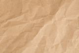 Recycle brown paper crumpled texture,Old paper surface for background.