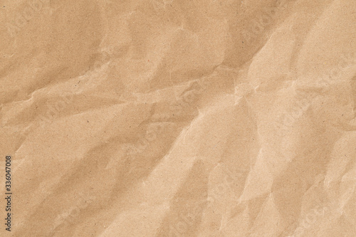 Obraz Recycle brown paper crumpled texture,Old paper surface for background. - fototapety do salonu