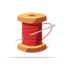 Spool Of Thread And Sewing Nee...