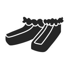 Summer Shoe Vector Icon.Black ...
