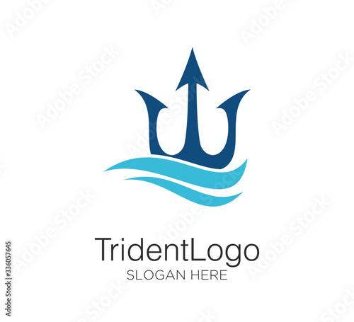 trident logo vector design concept Fototapeta
