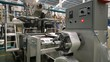 Plastic film making machine Polypropylene To make the bags. In the concept of single use and the environment.