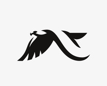 Eagle Logo. Hawk Emblem Design...