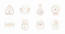 Mystic Boho Logo, Design Eleme...