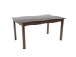 Brown square wooden table. 3d rendering illustration