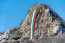 Bulgarian Flag On A Rocks For ...
