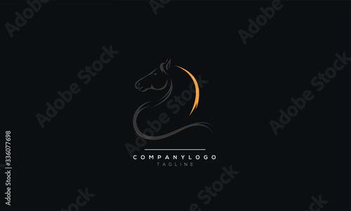 Cuadros en Lienzo horse elegant logo symbol vector for company symbol meaning strange simplicity l