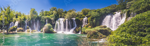 Kravice waterfall on the Trebizat River in Bosnia and Herzegovina - 336087641