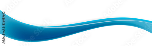 Obraz Cyan, blue curved line - fototapety do salonu