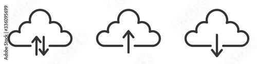 Fototapeta Download cloud icons set. Vector illustration. obraz