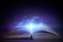 Open Book With Magic Glowing O...