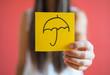 Picture icon umbrella in hand