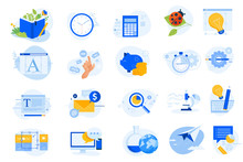 Flat Design Icons Collection. ...