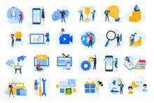 Flat Design Concept Icons Coll...