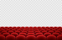 Cinema Or Movie Seats Isolated...