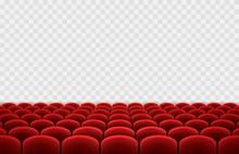 Cinema Or Movie Seats Isolated...