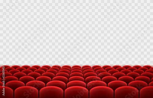 Stampa su Tela Cinema or movie seats isolated on transparent background