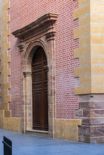 Church / Hospital Of San Julian (XVIII C) Has Its Origins In Hospital De La Caridad (Charity Hospital) Founded By Catholic Monarchs With Name Hospital Del Rey. Malaga, Costa Del Sol, Andalusia, Spain.