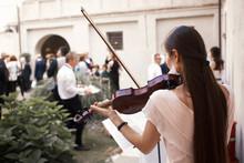 Violinist Playing Violin Music...