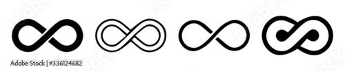 Carta da parati Infinity loop logo icon