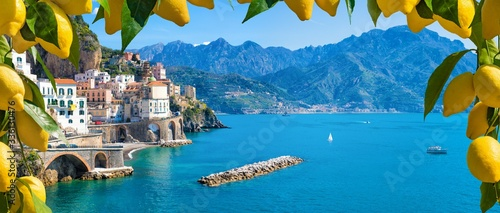 Fotografie, Tablou Small town Atrani on Amalfi Coast in province of Salerno, Campania region, Italy
