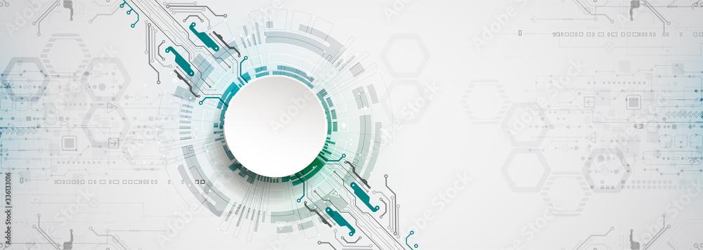 Fototapeta Abstract technology circuit board. Communication concept.