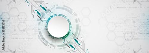 Fotografia Abstract technology circuit board. Communication concept.