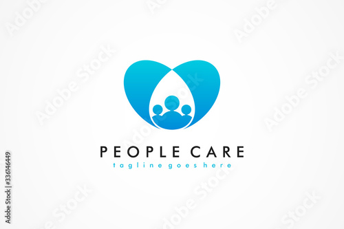 Abstract People Care Logo Wallpaper Mural