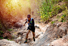 A Man Runner Of Trail And Athl...