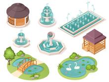 Park Fountains, Garden Ponds A...