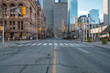 canvas print picture - Toronto, Canada during Covid-19 pandemic - Empty city streets