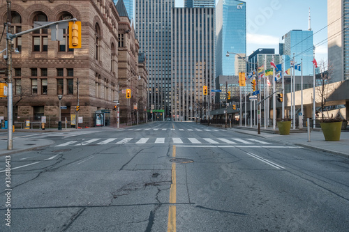 Obraz Toronto, Canada during Covid-19 pandemic - Empty city streets - fototapety do salonu