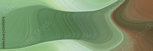 Fotografia, Obraz elegant dynamic horizontal banner with dim gray, gray gray and pastel gray colors