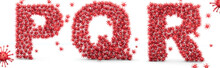 Letters P, Q, R Virus. Coronav...