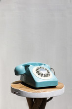 Retro Vintage Phone On Wooden Table