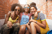 Three African Girl Friends. Th...