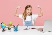 Smiling Little Kid Schoolgirl ...