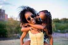 Two Teen Girls Having Fun