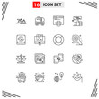 Set of 16 Commercial Outlines pack for thumb, like, construction, hand, web