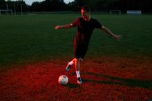 Footballer Doing Tricks On The...