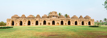 Panoramic View Of Ancient Elephant Stables In Hampi