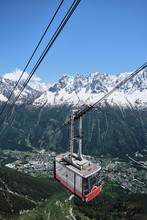 Brevent Cable Car Above Chamonix, France.