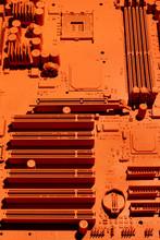 Printed Circuit Board In Orange