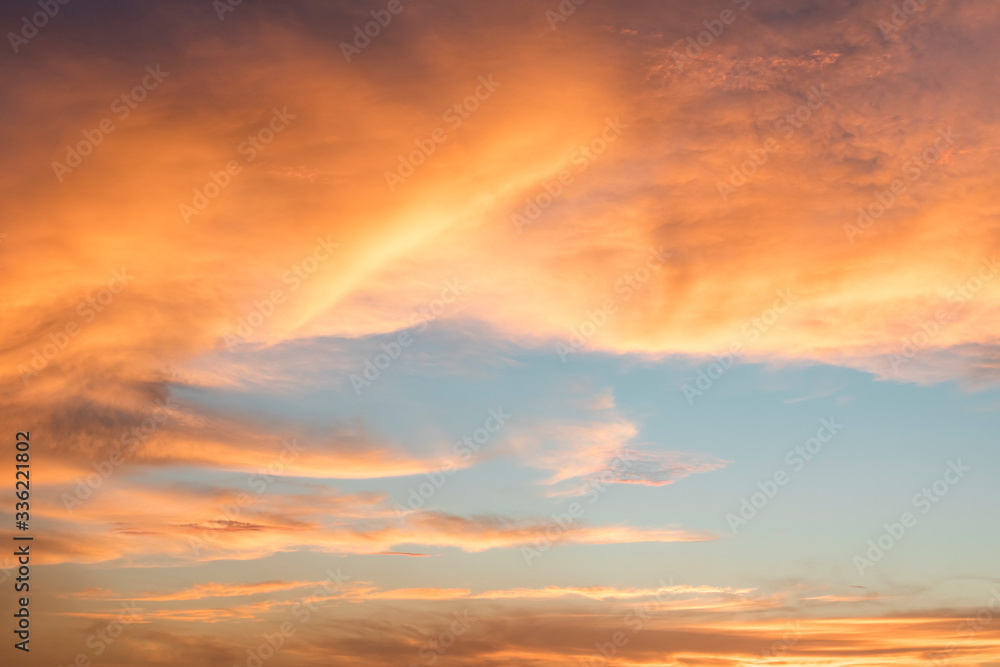Colorful cloud on sky