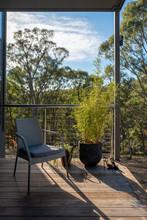 Raised Deck On Woodland Property