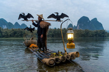 Fisherman With Bamboo Stick St...