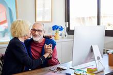 Senior Wife Kissing Her Husband