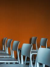 Gray Chairs In Auditorium